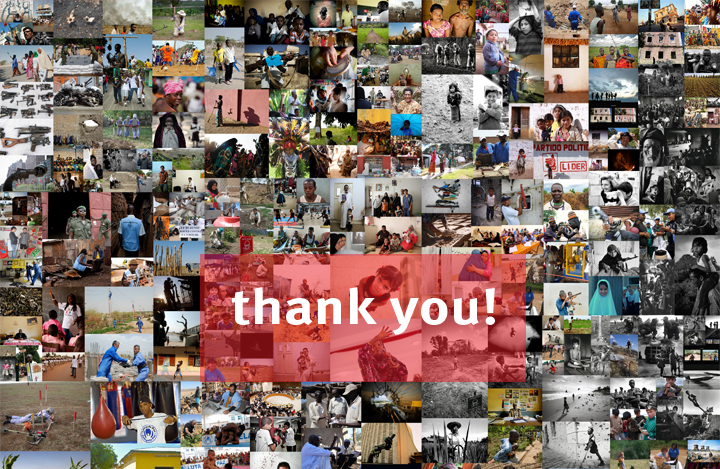 We would like to thank all the civil society organizations, UN agencies, international organizations, government agencies, and academic institutions that submitted pictures for the exhibition.