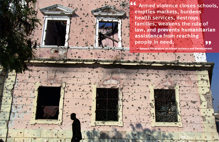 Angola: Towns, hospitals, and schools bear the scars of the 27-year civil war that ended in 2002. The conflict devastated the country's infrastructure and provoked a humanitarian disaster. Photo: J.B. Russell/Panos